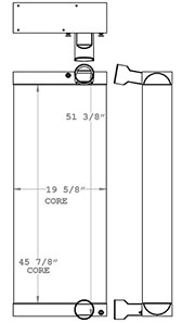 Bomag 280357 charge air cooler drawing