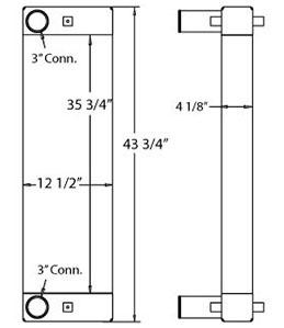 Caterpillar 280014 charge air cooler drawing