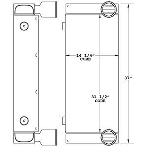 Kalmar 280235 charge air cooler drawing