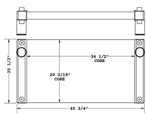Kawasaki 280290 charge air cooler drawing