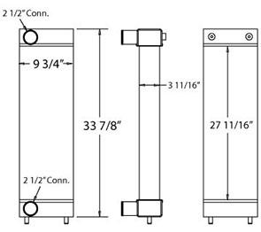 Komatsu 280028 charge air cooler drawing