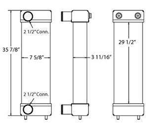 Komatsu 280213 charge air cooler drawing