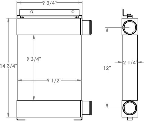Kubota 280394 charge air cooler drawing