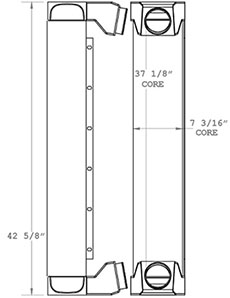 Liebherr 280284 charge air cooler drawing