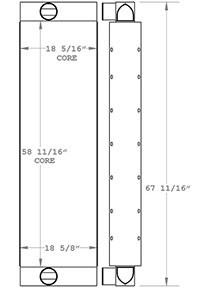 Schramm 280349 charge air cooler drawing