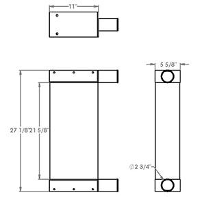 Sennebogen 280375 charge air cooler drawing