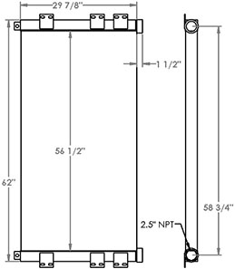Sullair 280383 charge air cooler drawing