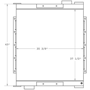 Sullivan Palatek 280035 charge air cooler drawing