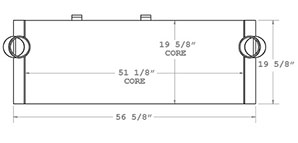 Wirtgen 280175 charge air cooler drawing