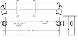 Wirtgen 280312 charge air cooler drawing